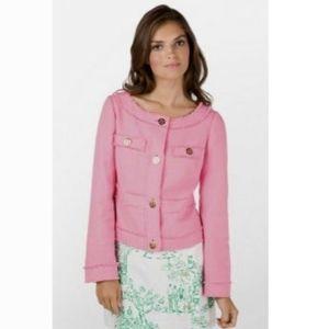 Lilly Pulitzer Millie Jacket Blazer Hotty Pink
